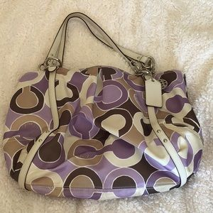 Coach Alexandra Outline OPT Art Tote in Lilac
